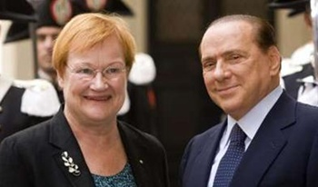 Berlusconi and Finnish president