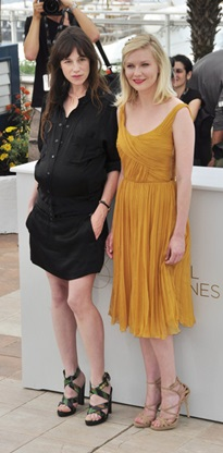 Charlotte Gainsbourg and Kirsten Dunst at Cannes