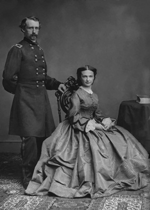 George Custer and his wife