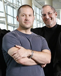 Jonathan Ive and Steve Jobs