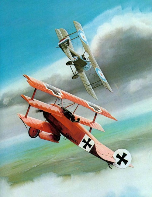Red Baron in battle