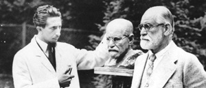 Freud sitting for his bust