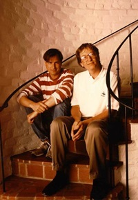 Young Steve Jobs and Bill Gates